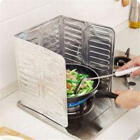 Kitchen GasStove Baffle Aluminum Foil Board Oil Splash Guard Anti Splatter Cover