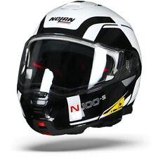 Nolan casco moto Modulare N100-5 consistency metal blanco 019 m