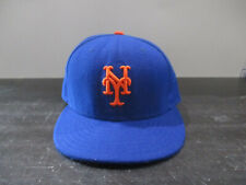 New Era New York Mets Hat Cap Blue Orange Fitted 7 5/8 MLB Baseball Mens A02