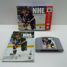 NHL BREAKAWAY 98 (NINTENDO 64) BOX + GAME + BOOKLET (LOOK DESCRIPTION) B1500