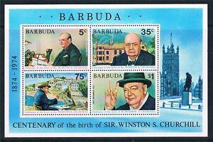Barbuda 1974 Churchill  Miniature Sheet MS MNH UM unmounted mint