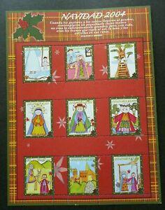 [SJ] Colombia Christmas NAVIDAD 2004 Children Painting Cartoon Art (sheetlet MNH