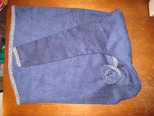 Uilleann bag cover navy corduroy with dark grey gimp trim