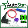 50 - Add A Circuit Fuse Splice Piggy Back MINI Blade Fuse Holder ATM APM 12v 24v