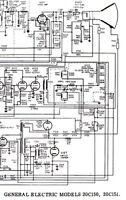Service Schematic Raytheon RC-1720A Ch 17AY27, GENERAL ELECTRIC 20C150 20C151 TV