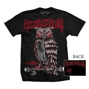 STEADFAST BRAND PERCHED OWL TATTOO ART SCENE BIKER PUNK GOTH T TEE SHIRT S-5XL