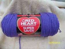 Red Heart Super Saver LAVENDER Purple 7 oz 100% Acrylic Worst Wt #4.No Dye Lot