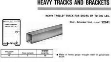 "STANLEY #Y2641 BOX TRACK, GALVANIZED STEEL, HEAVY DUTY, 96"""