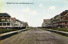 "Photo ca 1912 Far Rockaway Queens ""Grand View Avenue"""