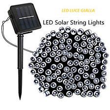 CSN SL3806R 60 LUCI DI NATALE A LED ALIMENTATI AD ENERGIA SOLARE COLORE GIALLO