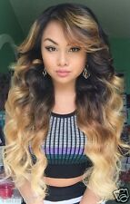 Custom Full Lace Russian #2/Custom Color/613 Ombre Body Wave Human Hair Wig 24""