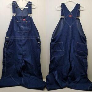 Dickies 44x30 Blaue Jeans Latzhose Denim Bauer Kostüm Arbeit Stall Aufgaben