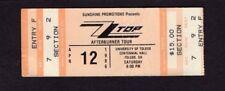 Original 1986 Zz Top Jimmy Barnes unused concert ticket Toledo Oh Afterburner