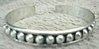 Beautiful Vintage Mid-Century Modernist ATI Mexico Sterling Silver Cuff Bracelet