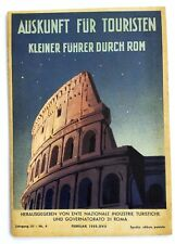 1937 Italy ROME Travel Guide Book  with Photo and Map in German