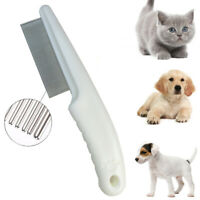 Fine Pet Dog Hair Shedding Grooming Flea Comb Puppy Cat Stainless Pin Brush Tool
