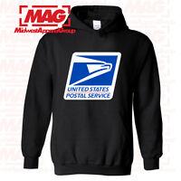 USPS LOGO POSTAL BLACK HOODIE Employee Sweatshirt United States USA Post Office