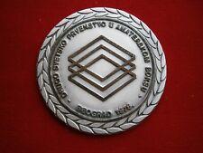 1978 YUGOSLAVIA WORLD AMATEUR CHAMPIONSHIP BOXING BOX SPORT SILVER MEDAL PLAQUE