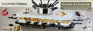 GOURMETmaxx Raclette Grill mit Fondue Set, 1600 W, weiß