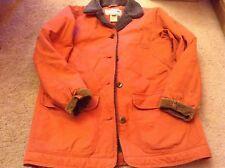 L.L. Bean Coat sz s field chore jacket euc red insulated brown corduroy trim