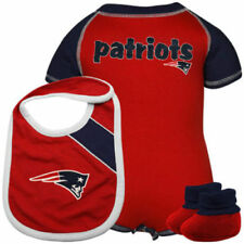 c54842a52 New England Patriots Bodysuit Creeper Bib Bootie Set 24 Month Baby Toddler  NFL