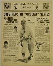 June 21 1939 Chicago Cubs News Newsletter Larry French Cover Baseball Hartnett