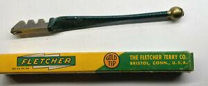 Vintage Fletcher Gold Tip Glass Cutter Hard Bronze Bearings - no.2