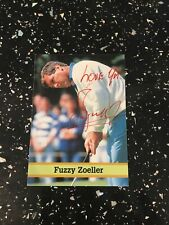 FUZZY ZOELLER SIGNED PHOTO CARD Genuine Signed
