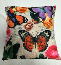 BUTTERFLYS PURPLE ORANGE PINK CUSHION COVER / PILLOWCASE 45X45CM | FREE POSTAGE