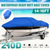 17-19ft Marine Extra Heavy Duty Boat Speedboat Cover Waterproof Ski V-Hull Blue