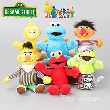 6X Sesame Street Big Bird Elmo Cookie Monster Ernie Plush Doll Soft Toy 13-18cm