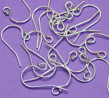 20mm 22 gauge 0.60mm thickness 925 Sterling Silver french Ear Wires 3 Pairs