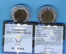 "25 Euro Öst 2006 ""Satellitennavigation"",Niob handgehoben, 65.000 Stück"