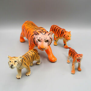 Plastic Tiger Toy Figures Learning Resources & Other Brands Mixed Lot Of 4
