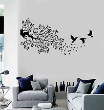 Vinyl Wall Decal Branch Leaves Tree Birds Room Decor Stickers (ig4069)