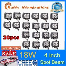 "20X18W Spot Light Bar 4"" 4inch LED Work ATV Off-Roads Fog Driving Cree UTV SALE!"
