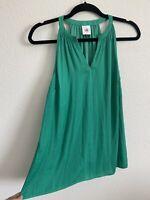 CABI Size XS Sleeveless Top Green Blouse