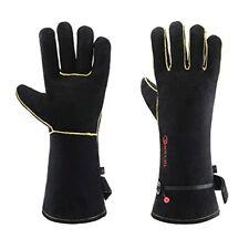 Leather Forge Welding Gloves 932 Heatfire Resistant For Welder Bbq14 Inch
