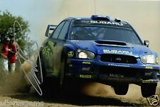 "Petter Solberg World Rally Champion 03 SUBARU IMPREZA HAND SIGNED PHOTO 12x8"" CC"