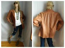 sale Vintage Beige Leather Blazer Size XL