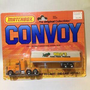 Vintage Matchbox Convoy CY5 Peterbilt Conventional Covered Truck Walt's Produce