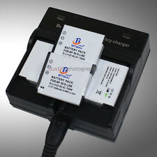 Dual AC Charger +4x Battery NP-50 NP50a for Fuji Finepix F750EXR F770EXR F775EXR