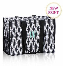 Thirty one zip top Organizing Utility tote 31 gift shoulder bag black links a