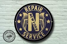 New York Repair Service Metal Sign, Biker, Vintage, Motorbike, Advertising, 941