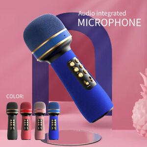 Wireless Bluetooth Karaoke Microphone Speaker Handheld Mic USB Player HIFI TF AU