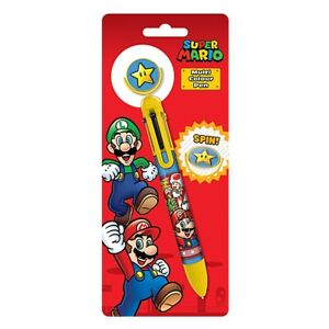 Super Mario Character Burst Multi Coloured Pen Stationery Official Licensed