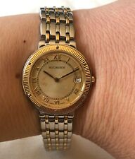 Bucherer Jubile Ladies 18k Gold & Stainless Steel Swiss Made Watch