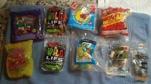 Wendy's Kids Meal Toy- Snoopy. Grinch Cootie Wild Life Stuart Little lot x 7 New