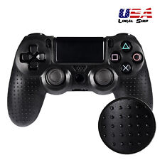 Spot Pattern Silicone Gel Case Cover Grip for Playstation 4 PS4 Controller Black