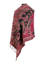 Look Effect Pashmina Floral & Paisley Design Large Fall Winter Shawl Wrap Scarf